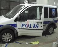 reklam yazıları POLİS ARACI